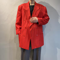 80s〜90s striped double breasted tailored jacket
