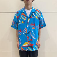 80s~ all patterned rayon shirt