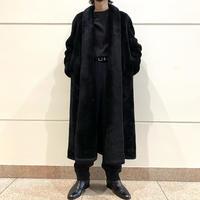 80s〜fake fur long coat (BLK)