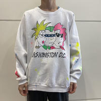 80s~ design painted sweat shirt