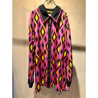 all pattern L/S silk shirt