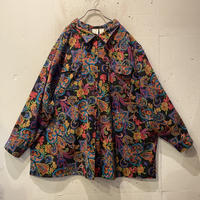 paisley pattern oversized L/S shirt