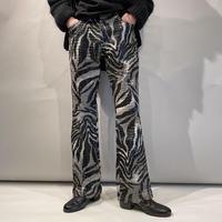 zebra pattern flare pants