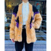 shaggy knit design cardigan