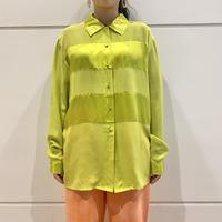 90s~ design silk shirt (Dead Stock)