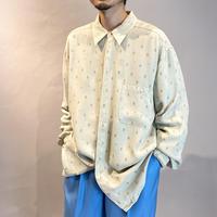 90s L/S design rayon shirt