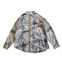 "80s ""GOOUCH"" rayon design shirt"