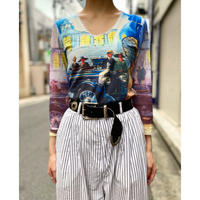 80s〜 all pattern see-through design cut sew