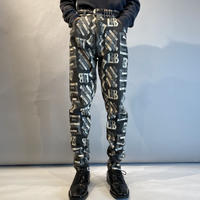 all pattern tapered pants