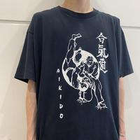 "00s ""合気道"" printed T-shirt"