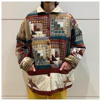 80s reversivle quilting jacket