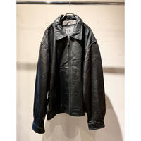 oversized leather drizzler jacket