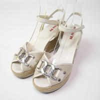 """PRADA"" wedge sandals(made in Italy)"