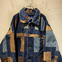 oversized patchworked denim jacket