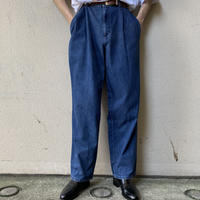 90s 2tucks denim slacks pants