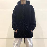 90s~ velours hooded zip up jacket
