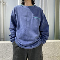 90s~ bi-color design sweat shirt