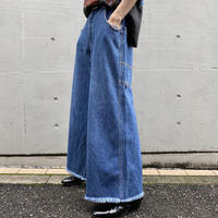 """snakeyes"" wide denim pants"