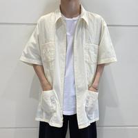 oversized  zip up cuban shirt