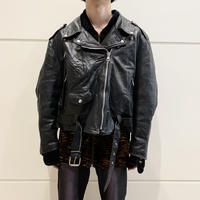 80s~ short length leather rider's jacket
