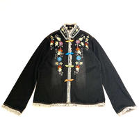embroidery denim kung-fu jacket