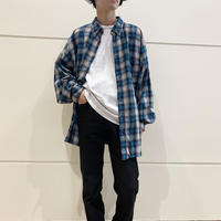 90s oversized flannel checked shirt