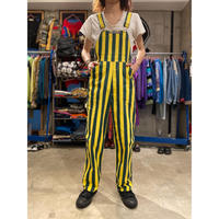 """""""GAME BIBS"""" striped overalls"""