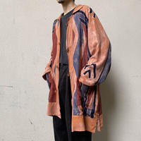 90s ethnic design oversized shirt