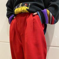 80s tapered slacks pants (RED)