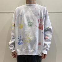 90s~ handpainted design sweat shirt