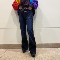 90s~ design flare denim pants