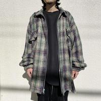 """""""EARTH RAGZ"""" oversized zip up check jacket"""