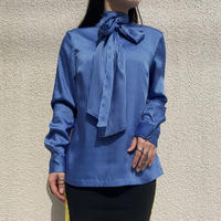 old ribbon tie blouse