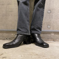 old square toe heel boots