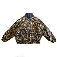 90s leopard patterned silk blouson