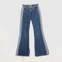 90s side line flare denim pants