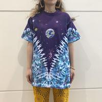 "90s~ ""LIQUID BLUE"" planet patterned T-shirt"