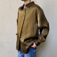 L/S shiny rayon shirt