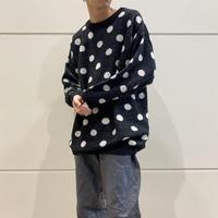 dot patterned acrylic knit sweater