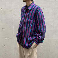 multi stripe shiny L/S shirt