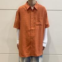 90s~ oversized rayon shirt