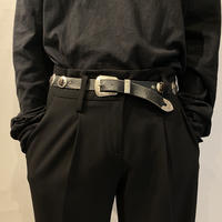 concho design leather belt