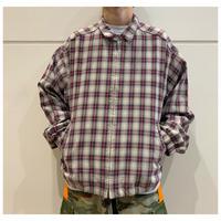 """90s """"Eddie Bauer"""" cotton check zip up jacket"""