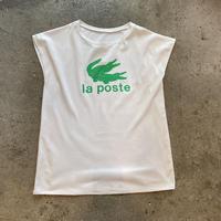 """""""la poste"""" printed leeveless tee"""