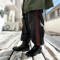 90s side line design nylon easy pants