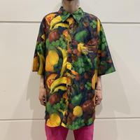 oversized s/s fruits photo print shirt