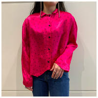 90s acetate design blouse