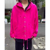 80s vivid color denim hoodie jacket