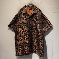 90s〜 fire pattern shiny S/S shirt