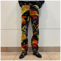 90s cotton blend design pants